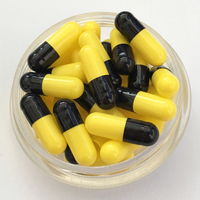 Black and yellow size 00 empty pill capsules