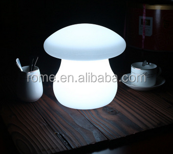 Kids bedroom mushroom shape battery operated led night light lamp with rgb