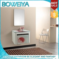 Most Popular Bathroom Pink Glass Basins With Cabinets