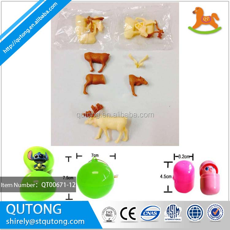 Top selling products 2018 deer assemble toy diy capsule toy
