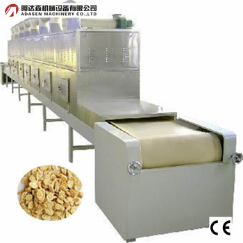 Tunnel type conveyor belt microwave herbs dryer and sterilization machine