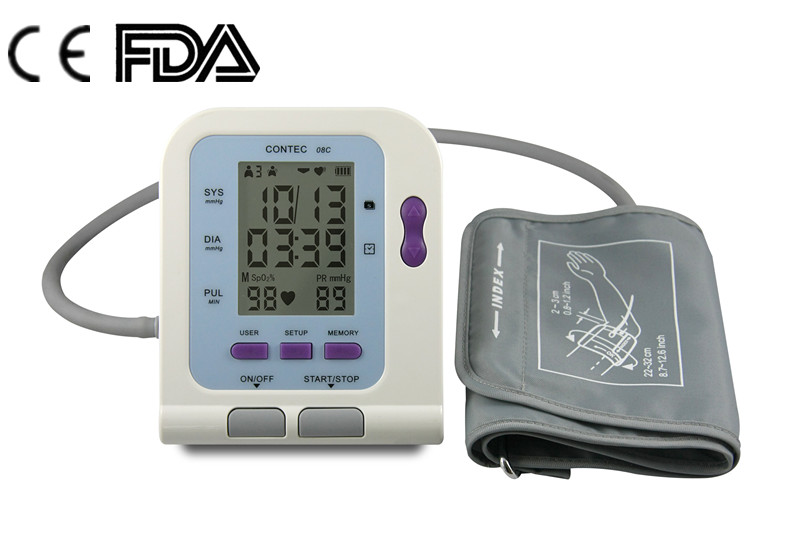 CE and FDA marked LCD screen Arm BPM digital blood pressure measuring instrument 08C
