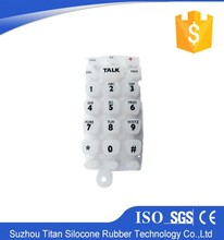 Customized carbon pill conductive silicon rubber keypad