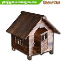 Wood outdoor dog house, kennel