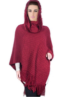 woman fashion cloak knitted poncho wholesale