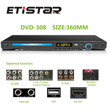 Shenzhen factory low price support OEM service dvd with usb karaoke 5.1 amplifier dvd player