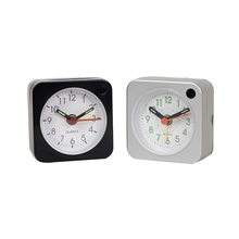 Promotion cheap snooze light plastic table clock for table decor
