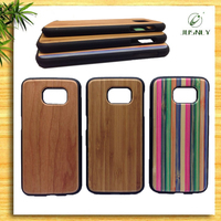 2016 Hot Sale 100% Natural Bamboo Wood Plastic Phone Case For Samsung S6 S7
