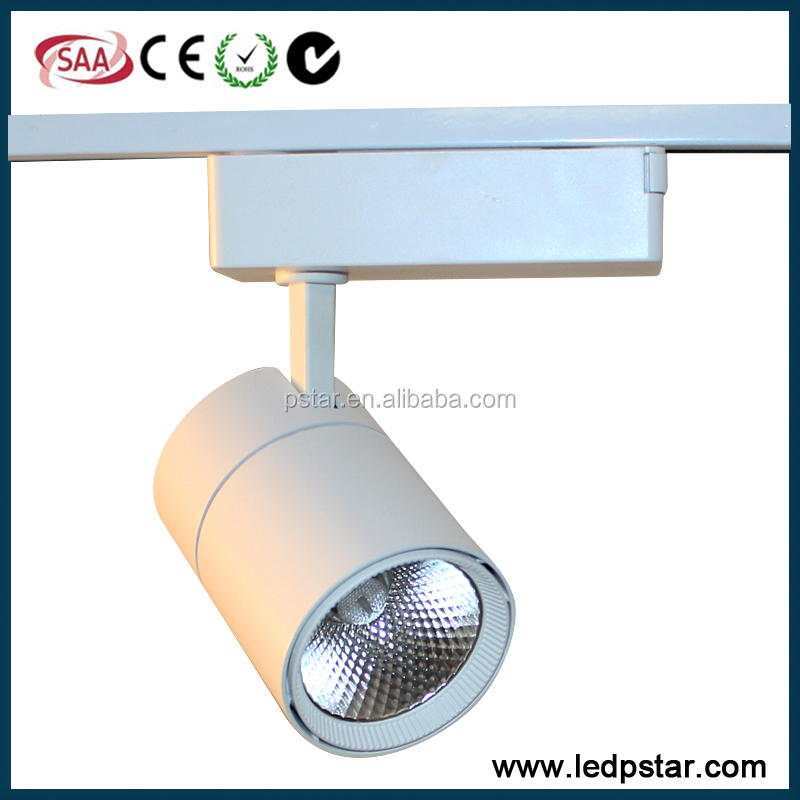 10w high luminous flux 120-130lm/<strong>w</strong> cob led track light with cri 80 90 97