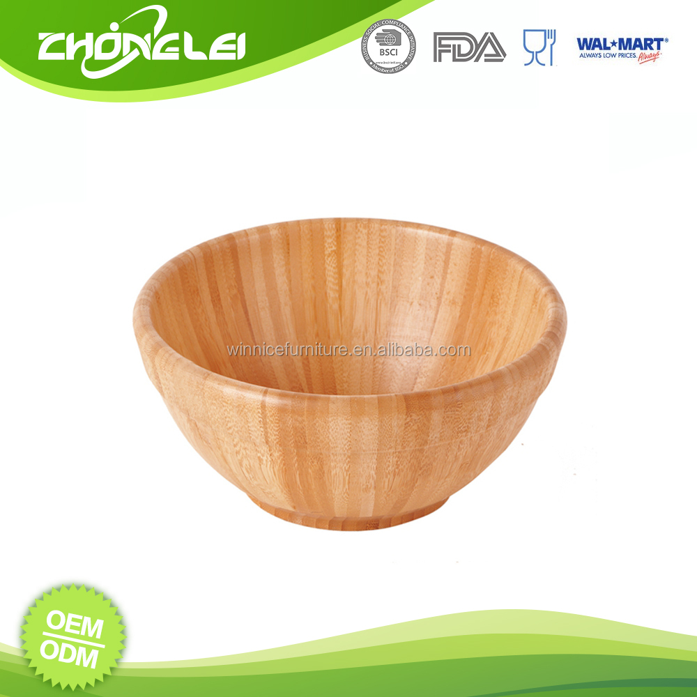 Customize SEDEX Approved Best Price Fruit Bowl Bamboo