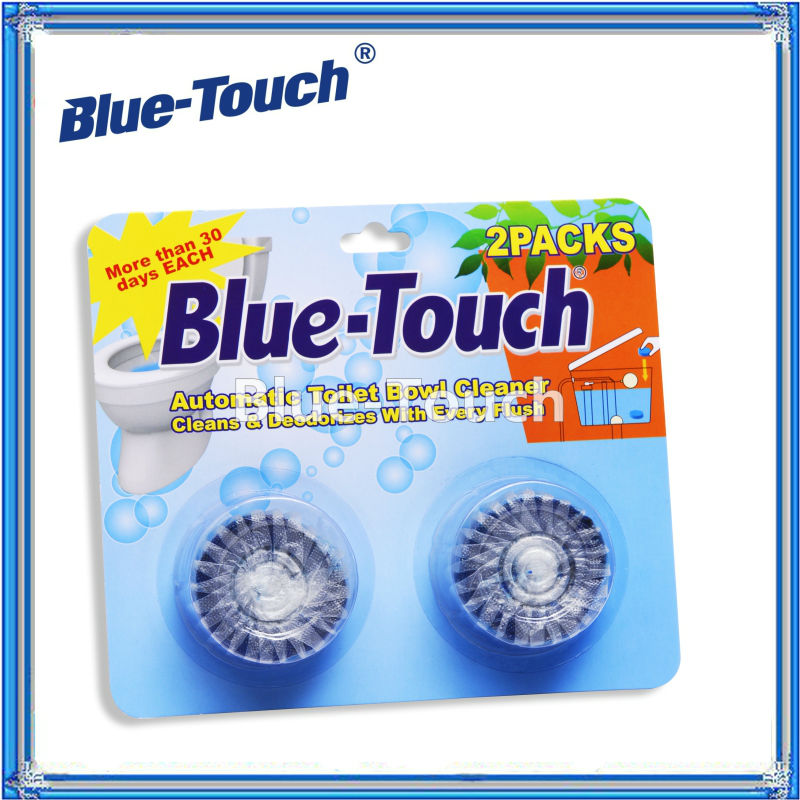 Blue-Touch Automatic Toilet Bowl Cleaners,Toilet Cleaning Tablets-2Packs (50gX2)