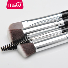 MSQ 4pcs nylon hair makeup <strong>brush</strong> costom label make up <strong>brush</strong> wholesale <strong>brush</strong>