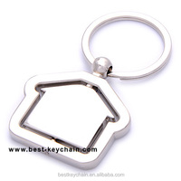 PROMOTION METAL HOUSE SHAPED BLANK GIFT KEY CHAIN (BBK11222)