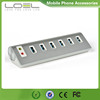 Aluminum 6 Port USB Hub With