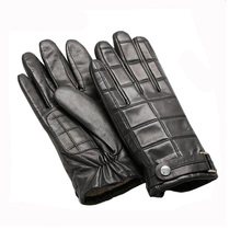 Mens Leather Gloves Buyers With Belt And Buckle On The Back