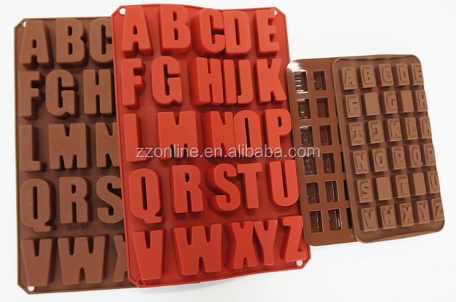 Colorful Hot Sale Letter Alphabet Shaped silicone Cake Mold
