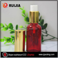 Empty Cosmetic Glass Facial Oil Bottles with Silver Pump Spray