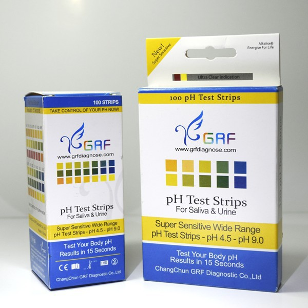 universal ph test paper four colors