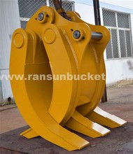 grapple for excavator atv log loader trailers for sale with High quality good price