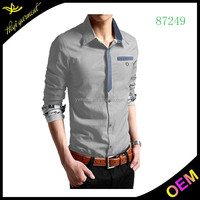 Slim fit casual shirts wholesale button down shirts for men