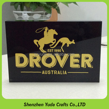 high grade 20mm acrylic blocks silk screen gold color plexi acrylic paper weight with picture
