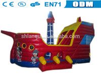 Giant commercial inflatable pirate ship bouncer slide for playground