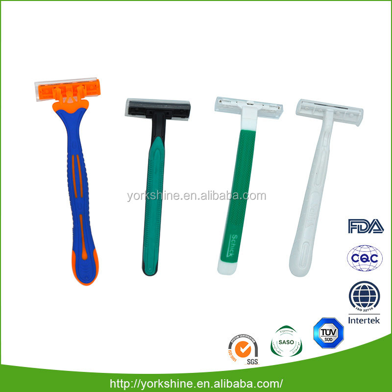 Factory directle sell professional hotel shaving kit razor triple blades