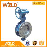 WZLD Ductile Iron Lug Type Flange Proportional Butterfly Valve For Water Gas Steam Medium