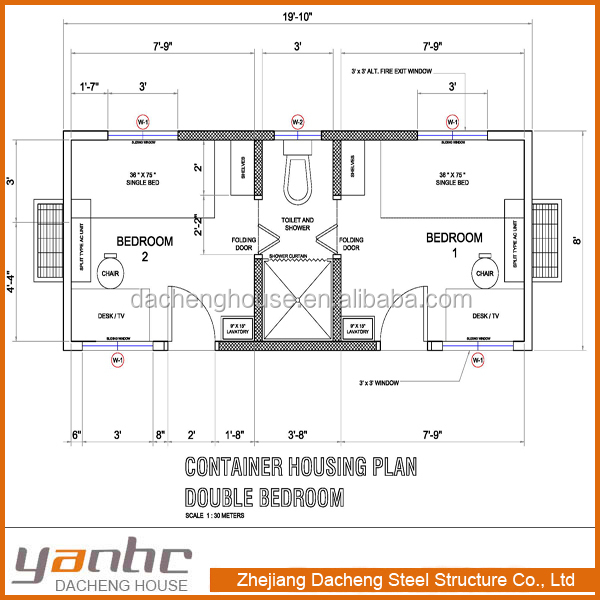 Prefabricated Flat Pack Container House Floor Plans