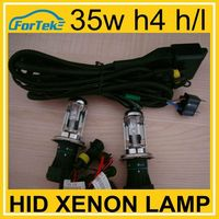 Super white hid xenon lamp h4 h/l 6000k 35w with wire harness