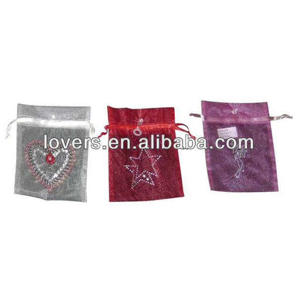 organza gift bag small christmas pouch
