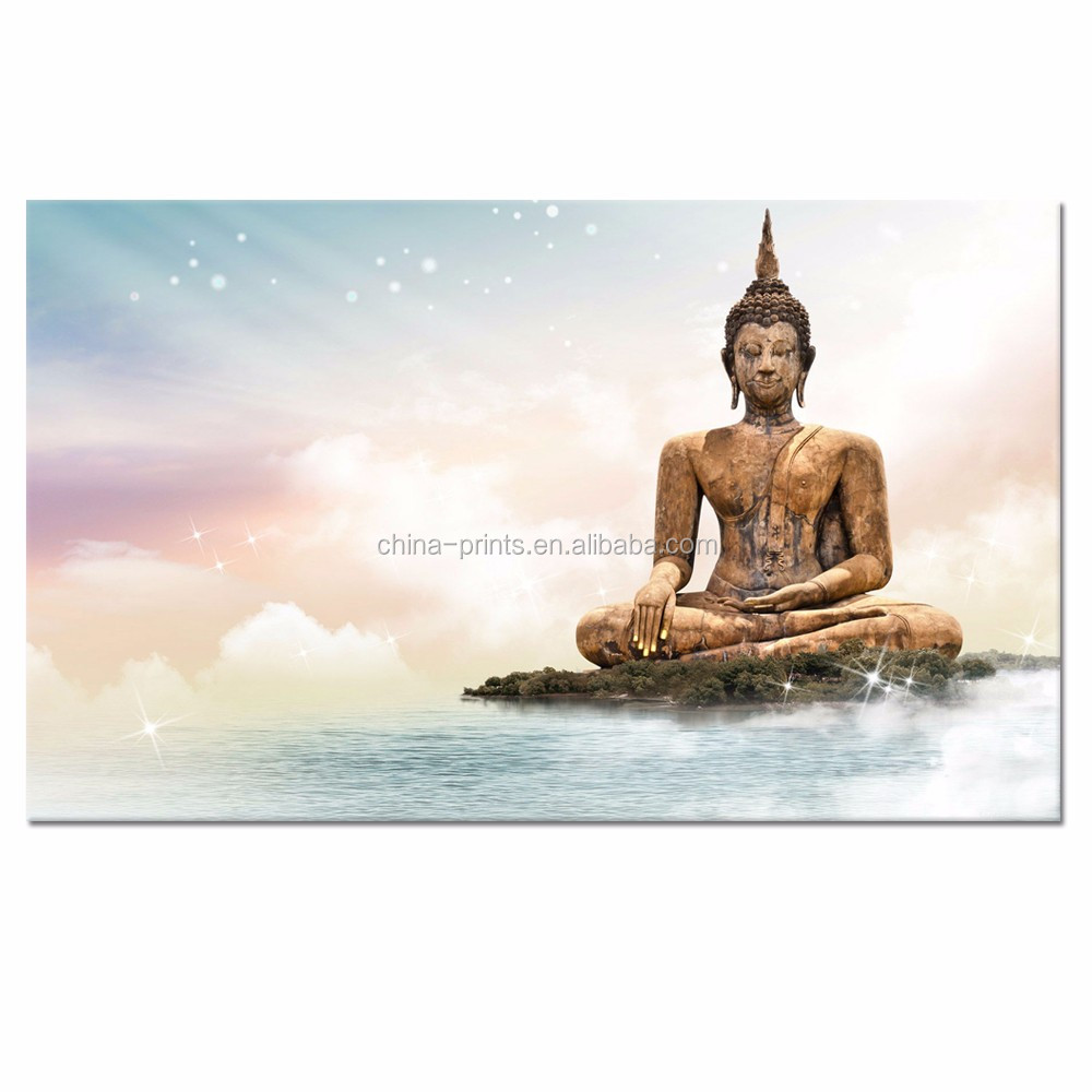 Modern Canvas Painting Wall Art Home Decoration Buddha Religious Print On Canvas