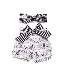 Organic Cotton Baby Rompers Wholesale Baby Clothes Sets With Headband