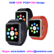 OEM ODM supported gt08 ce rohs china watch factory 2016 smart watch