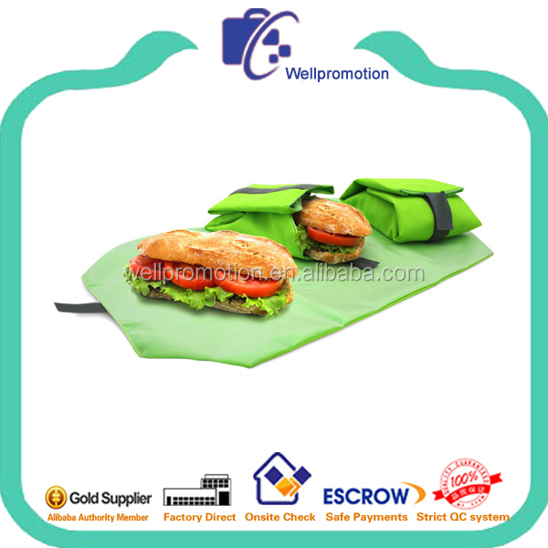 Reusable and recycled food packing bag with PEVA lining