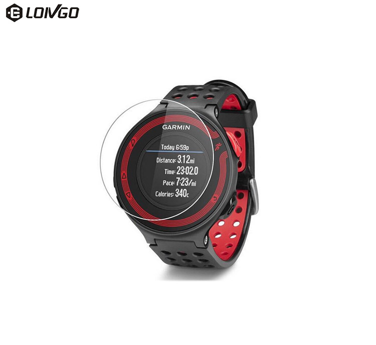 9H anti-scratch watch glass protector tempered glass for sport watches garmin forerunner 225/235