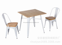 2016 restaurant furniture type and modern appearance metal tables and chairs/modern coffee shop tables and chairs