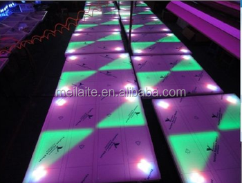 10mm RGB color changing dance floor/light up dance floor for sale