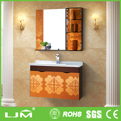 Wall-hung unconventional simple solid wood bath room furture/cabinet