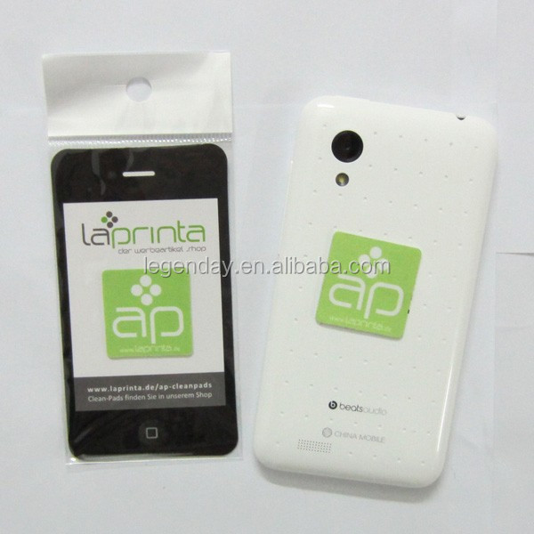 Custom silicone stickers mobile phone screen cleaner