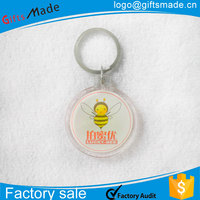 Promotional custom acrylic clear plastic key ring