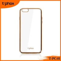 t-phox t-pc-01 electroplated ultra thin soft clear luxury TPU mobile phone case