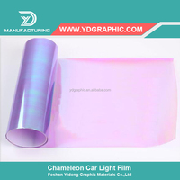 Starwrap Purple Colored Chameleon Motorcycle Headlight