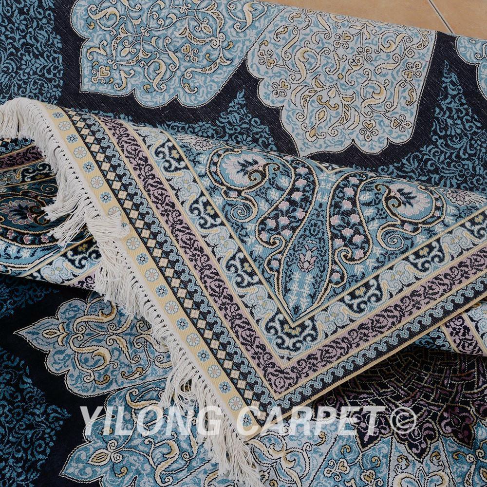 Yilong 2x3 M De Lujo Azul Turqu A Alfombra De Seda Persa