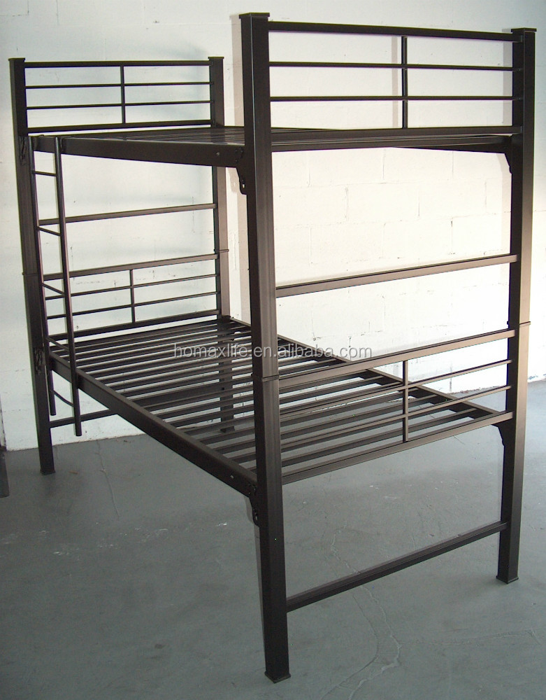 bed furniture University Bunkable bed frame single military stackable metal bed frame