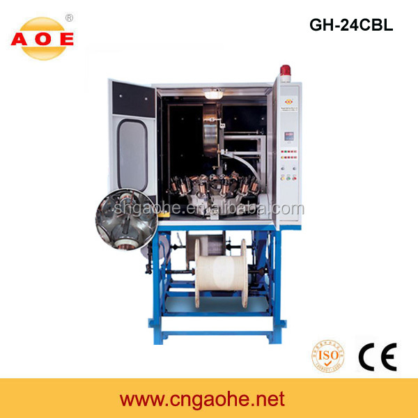 Factory supply high speed 24 spindle cable braiding machine for wire cable plant