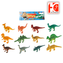 12pcs non-taxic 2.5 inch 3D zoo animals plastic dinosaur toy set for kids