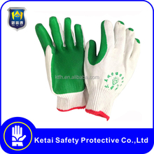 Wholesale rubber work gloves coated cotton industrial gloves