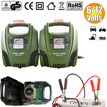 A1206L/A1208L 6amp/8amp battery charger meter indicate automatic lead acid battery charger 6/12v for car,motorcycle,van,marine