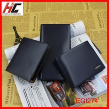 New Arrival Fashion Men's Wallets Genuine Leather Purse men Bifold Long Wallet navy Leather